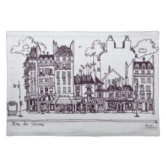 Haussmann Architecture   Rue de Sevres Placemat