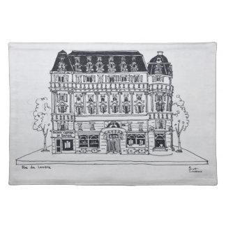 Haussmann Architecture | Rue du Louvre, Paris Placemat