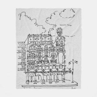 Haussmann Building | Rue de Rennes, Paris Fleece Blanket