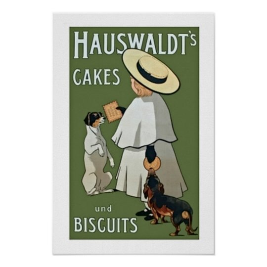 Hauswaldts Cakes and Biscuits Poster
