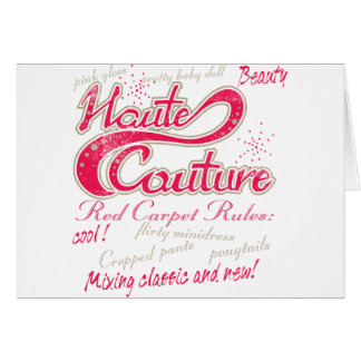 Haute Couture Greeting Card