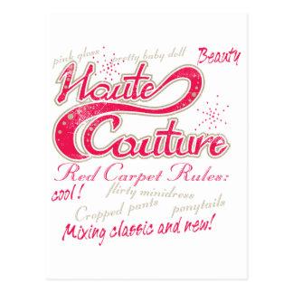 Haute Couture Postcard