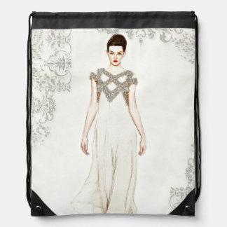 Haute Couture Runway Drawstring Backpacks