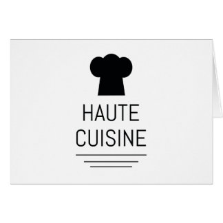 Haute Cuisine French Chef Cooking School Greeting Card