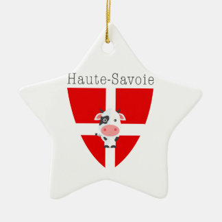 Haute-Savoie Cow Dble-Sided Christmas Ornament