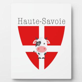 Haute-Savoie Cow Plaque With Easel