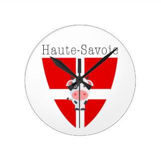Haute-Savoie Cow Round Clock