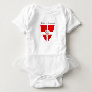 Haute-Savoie Cow Short-Sleeved Tutu-Vest Baby Bodysuit