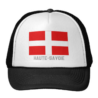 Haute-Savoie flag with name Hat