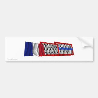 Haute-Vienne, Limousin & France flags Bumper Sticker
