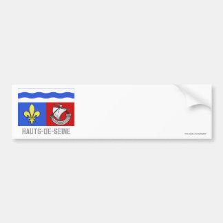 Hauts-de-Seine flag with name Bumper Sticker
