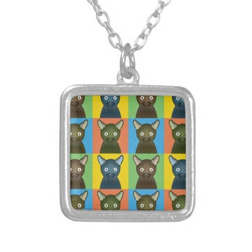 Havana Brown Cat Pop-Art Necklaces