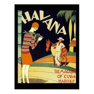 Havana Cuba Art Deco Cover Vintage Art Postcard