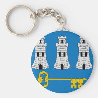 Havana, Cuba Basic Round Button Key Ring