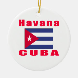 Havana Cuba capital designs Christmas Ornament