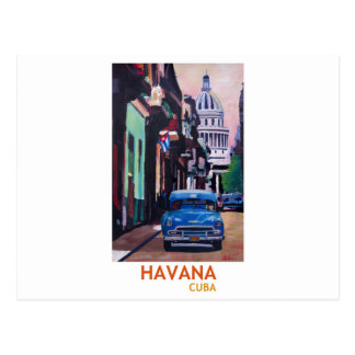 Havana in Cuba  - El Capitolo with oldtimer Postcard