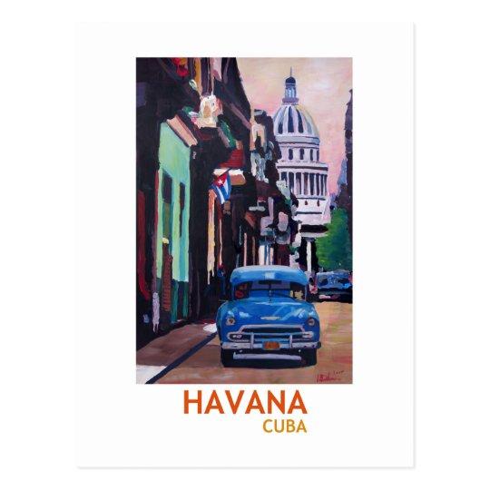 Havana in Cuba - El Capitolo with oldtimer