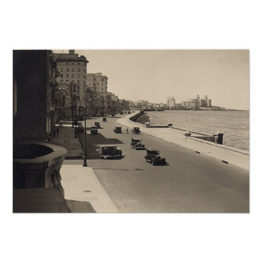 Havana Malecon Roaring Twenties Photo Poster