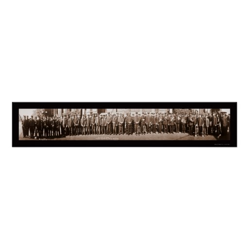 Havana Marching Band Photo 1914 Poster