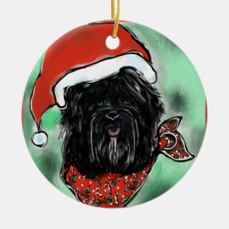 HAVANA SILK DOG CHRISTMAS ORNAMENT