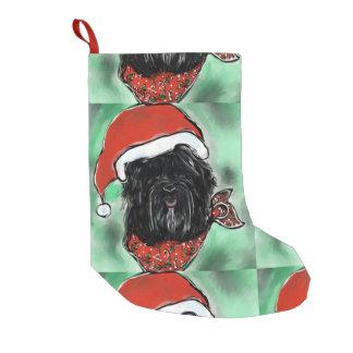 HAVANA SILK DOG SMALL CHRISTMAS STOCKING