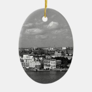 Havana skyline christmas ornament