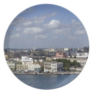 Havana skyline plate