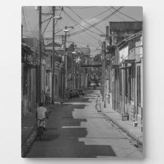 Havana streets plaque