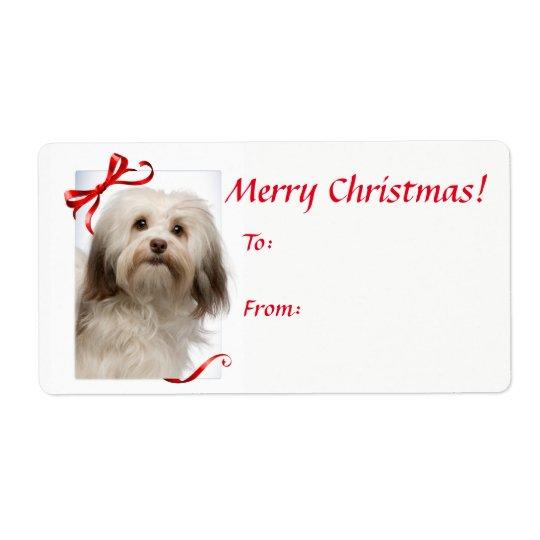 Havanese Christmas Gift Stickers