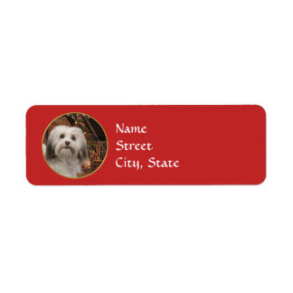 Havanese Christmas Return Address Labels