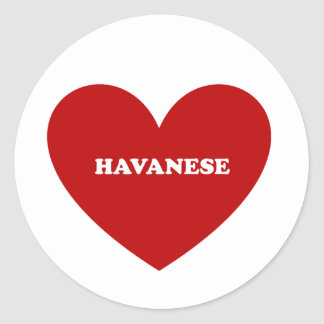 Havanese Classic Round Sticker
