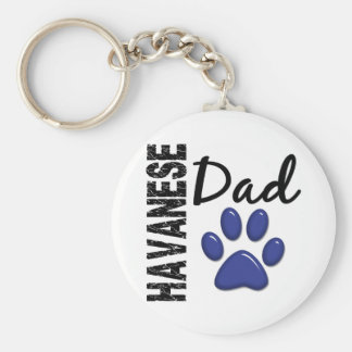 Havanese Dad 2 Key Ring