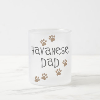 Havanese Dad Frosted Glass Coffee Mug
