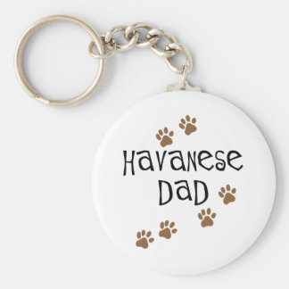 Havanese Dad Key Ring