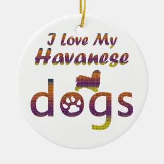 Havanese designs christmas ornament