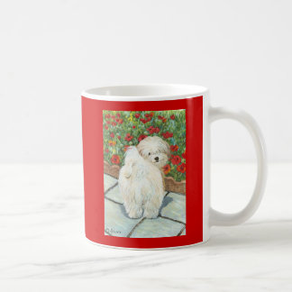 Havanese Dog and Poppies Art Print Mug