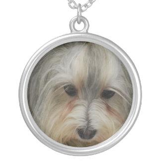 Havanese Dog Breed Round Pendant Necklace