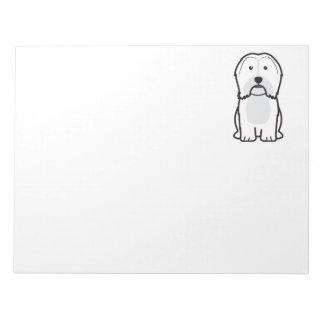 Havanese Dog Cartoon Notepad