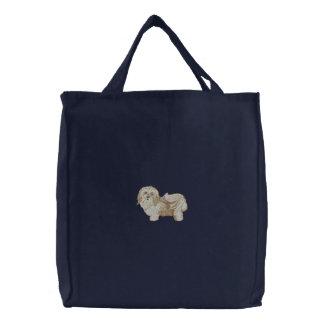 Havanese Dog Embroidered Bag