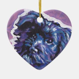 Havanese Dog fun pop art Christmas Ornament