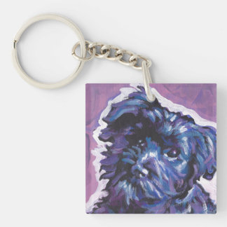 Havanese Dog fun pop art Key Ring