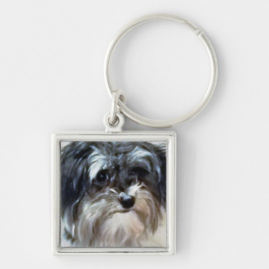 Havanese Dog Premium Square Keychain