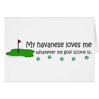 Havanese Greeting Card