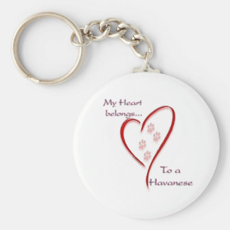 Havanese Heart Belongs Key Ring