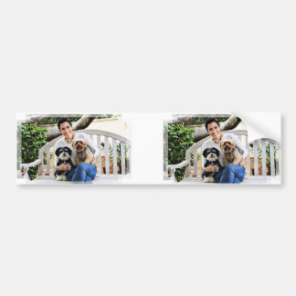 Havanese - Lola Yorkie - Molly Bumper Sticker