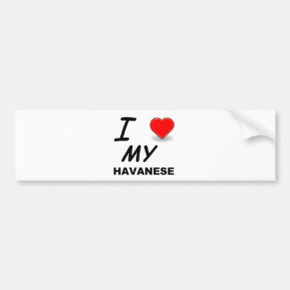 havanese love bumper sticker