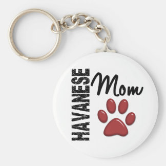 Havanese Mom 2 Key Ring
