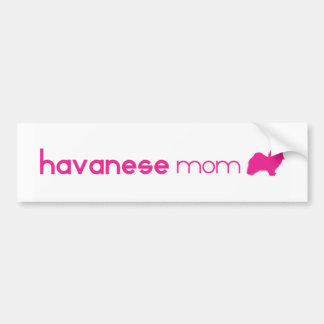 Havanese Mom Bumper Sticker