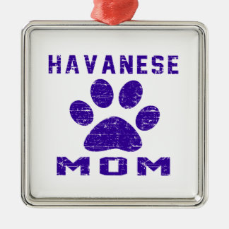 Havanese Mom Gifts Designs Silver-Colored Square Decoration