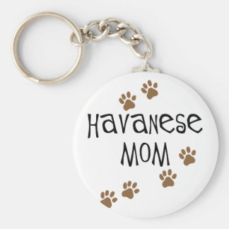 Havanese Mom Key Ring